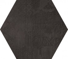 Dechirer Esagona decor nero 120x120