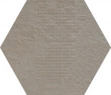 Dechirer Esagona decor grigio 60x60