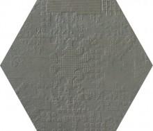Dechirer Esagona decor piombo 60x60