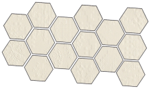 Dechirer Mosaico random decor bianco 22x45