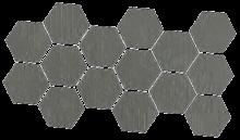 Dechirer Mosaico random decor piombo 22x45