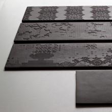 Bas Relief Garland relief nero 18x54