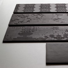Bas Relief Patchwork relief nero 18x54