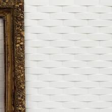 Ceramica convessa bianca 5.3x19.8